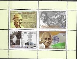TAJIKISTAN, 2019, MNH,  GANDHI, TRAINS, SHEETLET - Mahatma Gandhi