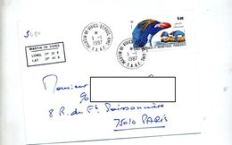 Lettre Cachet Martin De Vivies Sur Oiseau - French Southern And Antarctic Territories (TAAF)