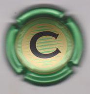 Capsule Champagne CHRISTOPHE ( Nr ; Contour Vert Métal , Centre Or Foncé ) {S26-20} - Champagne