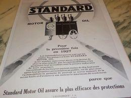 ANCIENNE PUBLICITE LA POMPE STANDARD HUILE STANDARD  1928 - Other