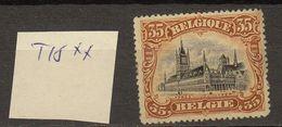 Belgie - Belgique Ocb Nr :  142A ** MNH  T15 ! (zie Scan) - 1915-1920 Albert I
