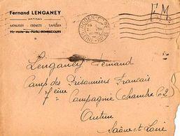 C2    1940 Lettre+ Courrier Pour Le Front Stalag  Camp Des Prisonniers Français A Autun Pas Courant - Marcophilie (Lettres)