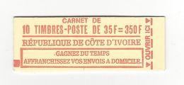 COTE D'IVOIRE 1974 CARNET COMPLET NEUF** YT 376 10 TIMBRES CARNET NON REPERTORIE /FREE SHIPPING REGISTERED - Côte D'Ivoire (1960-...)