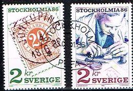 """SUEDE / Obliteres / Used / 1986 -Exposition Philatelique Internationale """"Stockholmia 86 - Oblitérés"""