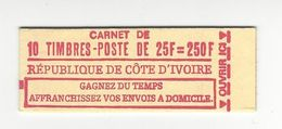 COTE D'IVOIRE 1974 CARNET COMPLET NEUF** YT 371 10 TIMBRES CARNET NON REPERTORIE /FREE SHIPPING REGISTERED - Côte D'Ivoire (1960-...)