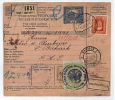 TCHECOSLOVAQUIE - KRNOV - JÄGERNDORF / 1925 COLIS POSTAL - BULLETIN D'EXPEDITION (ref LE4168) - Briefe U. Dokumente