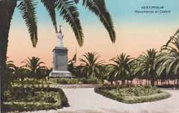 VENTIMIGLIA (IMPERIA) CARTOLINA - MONUMENTO AI CADUTI - Imperia