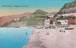 VENTIMIGLIA (IMPERIA) CARTOLINA - SPIAGGIA DI PONENTE - Imperia