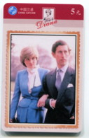 Télécarte China Satcom : Diana - Personnages