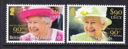 2016 British Virgin Islands QEII 90th Birthday Complete Set Of 4 MNH  @ BELOW FACE VALUE - Britse Maagdeneilanden