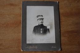 Armée D'Afrique Commandant 3 Eme Zouave   1905 Képi Au Croissant Photographe De Blida - Guerra, Militares