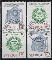 SUEDE / Obliteres / Used / 1986 - Bicentenaire De L'Academie Suédoise - Suède