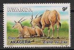 Rwanda - 1986 - N°Yv. 1219 - Eland Du Cap - Neuf Luxe ** / MNH / Postfrisch - 1980-89: Neufs