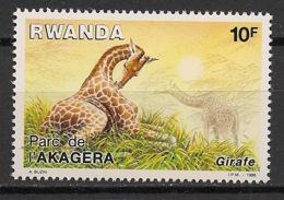 Rwanda - 1986 - N°Yv. 1220 - Girafe - Neuf Luxe ** / MNH / Postfrisch - 1980-89: Neufs