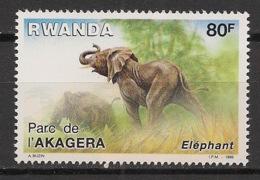 Rwanda - 1986 - N°Yv. 1221 - Elephant / Elefant - Neuf Luxe ** / MNH / Postfrisch - 1980-89: Neufs