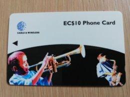 ST LUCIA    $ 10   CABLE & WIRELESS  STL-237A  237CSLA  JAZZ FESTIVAL 98      Fine Used Card ** 2443** - Saint Lucia
