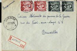 Doc. De JURBISE - A A - Du 07/11/56   En Rec. - Marcophilie