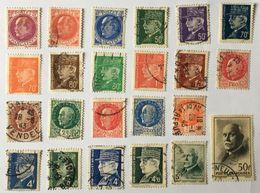 YT 505 à 525 (°) Obl 23 Valeurs 1941-1942, Types Pétain (côte 10,7 Euros) – Brief - 1941-42 Pétain