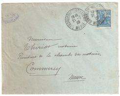 GONDRECOURT Le CHÂTEAU Meuse Lettre 50c Jeanne D'Arc Yv Ob 21 7 1929 Yv 257 - Covers & Documents