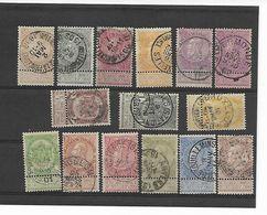 België N° 53/67 Cote 141 Euro Euro - 1893-1900 Fine Barbe