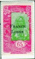 Cote Des Somalis 1942 Surcharge France Libre 65c  YT 201 - Französich-Somaliküste (1894-1967)