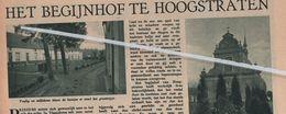 HOOGSTRATEN..1935.. HET BEGIJNHOF TE HOOGSTRATEN - Old Paper