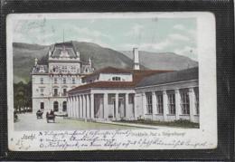 AK 0513  Ischl - Trinkhalle , Post- Und Telegrafenamt Um 1908 - Bad Ischl