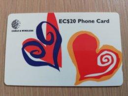 ST LUCIA    $ 20   CABLE & WIRELESS  STL-329A   329CSLA    MILLENNIUM BUG    Fine Used Card ** 2460** - St. Lucia
