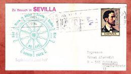 Segelschulschiff Gorch Fock Zu Besuch In Sevilla, Madrazo, Nach Solingen, Nachgebuehr 1975 (95136) - 1931-Hoy: 2ª República - ... Juan Carlos I