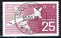 SUEDE / Obliteres / Used / 1987 - L'industrie Aéronautique Suédoise - Suède