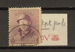 Belgie - Belgique Ocb Nr :  176 Manque Un Dent  (zie Scan) - 1919-1920 Trench Helmet