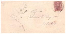 Nuragus. 1899. Annullo Di Collettoria Ottagonale NURAGUS, Su Lettera  Senza Testo. - 1878-00 Humbert I