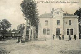 Pontailler Sur Saone * La Gare , Vue Extérieure * Ligne Chemin De Fer Côte D'or - Altri Comuni