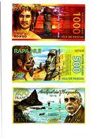 ILE DE PAQUES / EASTER ISLAND 3 Billets ????? UNC - USA