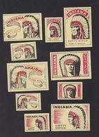 Anciennes étiquettes Allumettes Belgique Indien - Boites D'allumettes - Etiquettes