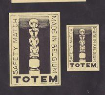 Anciennes étiquettes Allumettes Belgique Totem Indien - Boites D'allumettes - Etiquettes