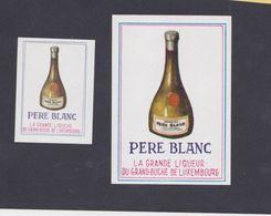 Anciennes étiquettes Allumettes Belgique Liqueur Père Blanc Du Grand Duché Du Luxembourg - Boites D'allumettes - Etiquettes