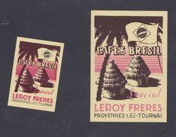 Anciennes étiquettes Allumettes Belgique Café Brésil Leroy Frères - Boites D'allumettes - Etiquettes
