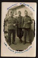 Carte Photo - Souvenir D'Agde 13-7-1940 - Les Trois Puciculteurs - Noms Au Dos - 2 Scans - Guerra 1939-45
