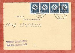 Vorderseite, Hakenkreuz, Berlin Nach Offenburg 1944 (95150) - Covers & Documents