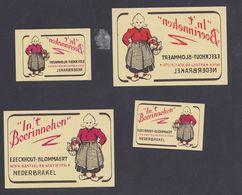 Anciennes étiquettes Allumettes Belgique Femme - Boites D'allumettes - Etiquettes