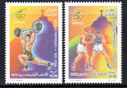 2016 Algeria Algerie Rio Olympics Boxing  Complete Set Of 2 MNH - Algeria (1962-...)