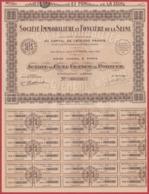 Société Immobilière Et Foncière De La Seine. Paris. Action Avec Coupons. 1933. - Acciones & Títulos