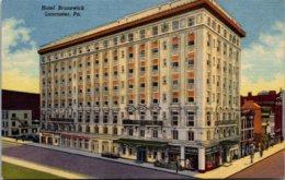Pennsylvania Lancaster Hotel Brunswick Curteich - Lancaster