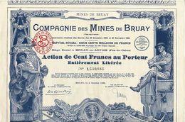 Titre Ancien - Compagnie Des Mines De Bruay - Titre De 1939 - Déco -N°1.530.885 - Mines