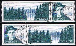 SUEDE / Obliteres / Used / 1988 - Centenaire De La Naissance De Dan Andersson - Suède