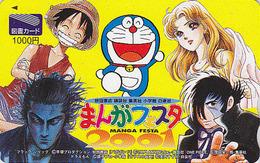 Carte Prépayée Japon - MANGA FESTA - TEZUKA BLACK JACK ONE PIECE VAGABOND DORAEMON Cat - JAPAN Tosho Card - 12046 - BD