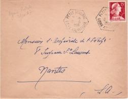 FRANCE - Lettre - L' Archiviste De L'Évêché - Nantes - Oblitération  Cachet Hexagonal - Agence Postale - Muller 25f-1959 - France