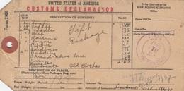 ETIQUETTE DELARATION DE DOUANE - CUSTOMS DELARATION LABEL - CHICAGO TO BERLIN 1947 - Estados Unidos