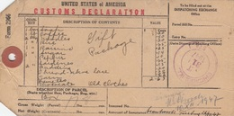 ETIQUETTE DELARATION DE DOUANE - CUSTOMS DELARATION LABEL - CHICAGO TO BERLIN 1947 - USA